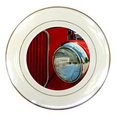 Antique Car Auto Roadster Old Porcelain Plates