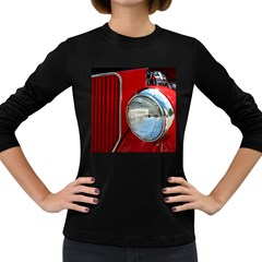 Antique Car Auto Roadster Old Women s Long Sleeve Dark T-Shirts