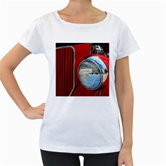 Antique Car Auto Roadster Old Women s Loose-Fit T-Shirt (White)