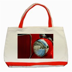 Antique Car Auto Roadster Old Classic Tote Bag (red)