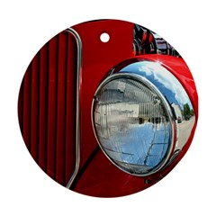 Antique Car Auto Roadster Old Round Ornament (two Sides)