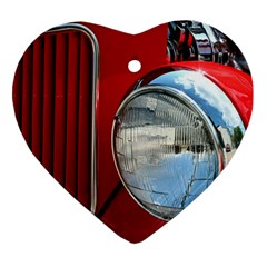 Antique Car Auto Roadster Old Heart Ornament (two Sides)