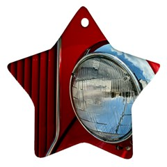 Antique Car Auto Roadster Old Star Ornament (Two Sides)