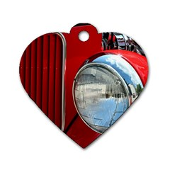 Antique Car Auto Roadster Old Dog Tag Heart (one Side)