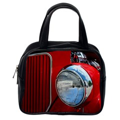 Antique Car Auto Roadster Old Classic Handbags (one Side)
