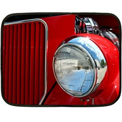 Antique Car Auto Roadster Old Fleece Blanket (mini)