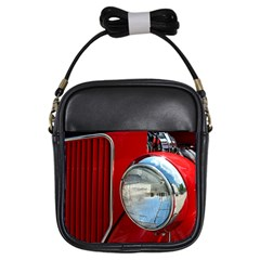 Antique Car Auto Roadster Old Girls Sling Bags