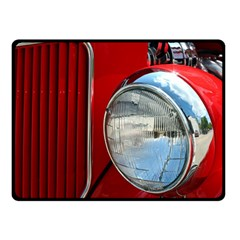 Antique Car Auto Roadster Old Fleece Blanket (small)