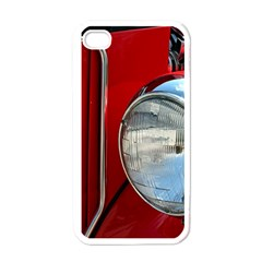 Antique Car Auto Roadster Old Apple iPhone 4 Case (White)