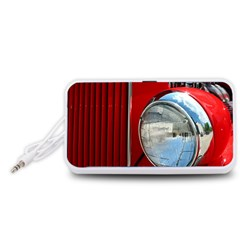 Antique Car Auto Roadster Old Portable Speaker (White)