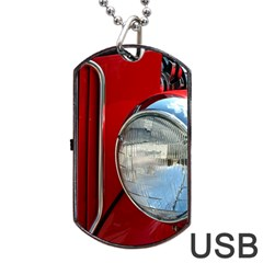 Antique Car Auto Roadster Old Dog Tag Usb Flash (one Side)