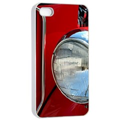 Antique Car Auto Roadster Old Apple iPhone 4/4s Seamless Case (White)