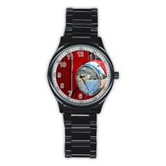 Antique Car Auto Roadster Old Stainless Steel Round Watch