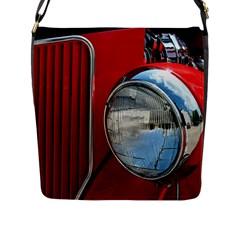Antique Car Auto Roadster Old Flap Messenger Bag (L)