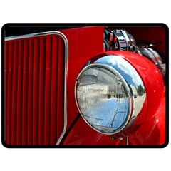 Antique Car Auto Roadster Old Double Sided Fleece Blanket (Large)