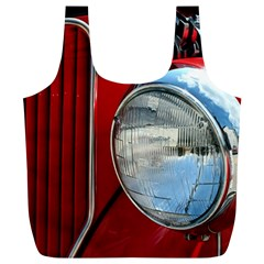 Antique Car Auto Roadster Old Full Print Recycle Bags (l)