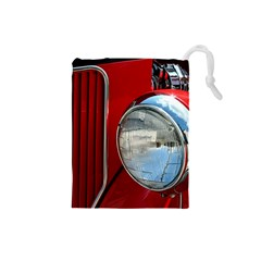 Antique Car Auto Roadster Old Drawstring Pouches (small)