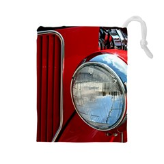 Antique Car Auto Roadster Old Drawstring Pouches (large)