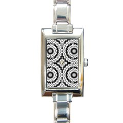 Pattern Tile Seamless Design Rectangle Italian Charm Watch