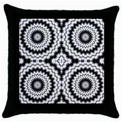 Pattern Tile Seamless Design Throw Pillow Case (black)