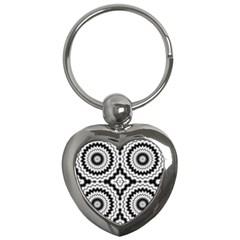 Pattern Tile Seamless Design Key Chains (heart)