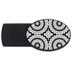 Pattern Tile Seamless Design Usb Flash Drive Oval (2 Gb)
