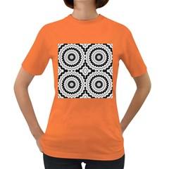 Pattern Tile Seamless Design Women s Dark T Shirt