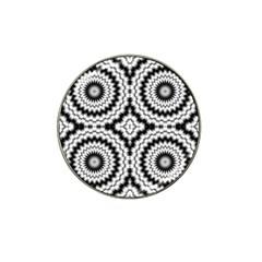 Pattern Tile Seamless Design Hat Clip Ball Marker