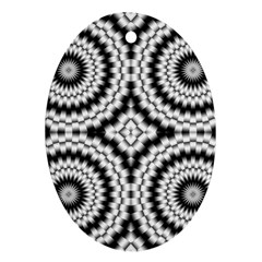 Pattern Tile Seamless Design Oval Ornament (two Sides)