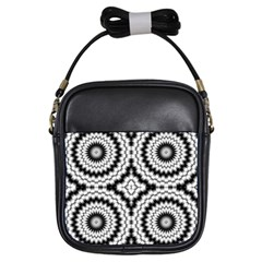 Pattern Tile Seamless Design Girls Sling Bags
