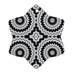 Pattern Tile Seamless Design Snowflake Ornament (two Sides)