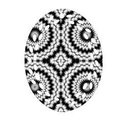 Pattern Tile Seamless Design Oval Filigree Ornament (two Sides)