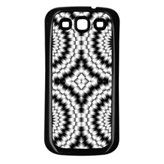 Pattern Tile Seamless Design Samsung Galaxy S3 Back Case (Black)