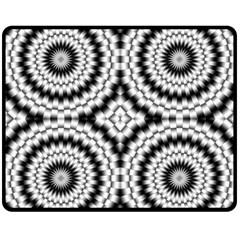 Pattern Tile Seamless Design Double Sided Fleece Blanket (Medium)