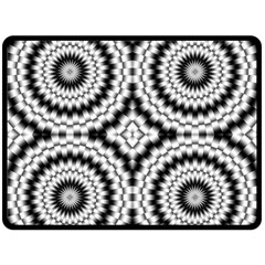 Pattern Tile Seamless Design Double Sided Fleece Blanket (large)