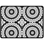 Pattern Tile Seamless Design Double Sided Fleece Blanket (Large)  80 x60 Blanket Back