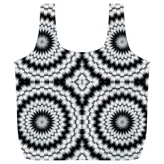 Pattern Tile Seamless Design Full Print Recycle Bags (l)