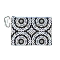 Pattern Tile Seamless Design Canvas Cosmetic Bag (m)