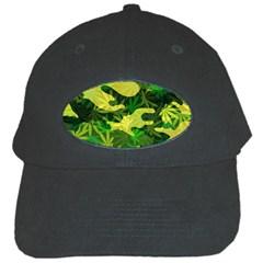 Marijuana Camouflage Cannabis Drug Black Cap