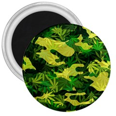 Marijuana Camouflage Cannabis Drug 3  Magnets