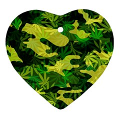 Marijuana Camouflage Cannabis Drug Ornament (Heart)