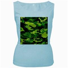 Marijuana Camouflage Cannabis Drug Women s Baby Blue Tank Top