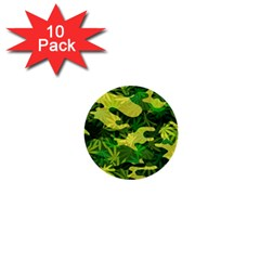 Marijuana Camouflage Cannabis Drug 1  Mini Buttons (10 Pack)