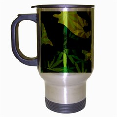 Marijuana Camouflage Cannabis Drug Travel Mug (Silver Gray)