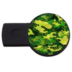 Marijuana Camouflage Cannabis Drug USB Flash Drive Round (4 GB)