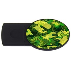 Marijuana Camouflage Cannabis Drug USB Flash Drive Oval (4 GB)