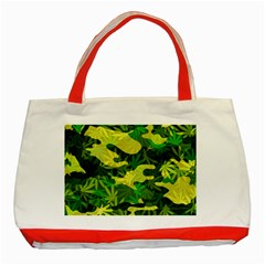 Marijuana Camouflage Cannabis Drug Classic Tote Bag (red)