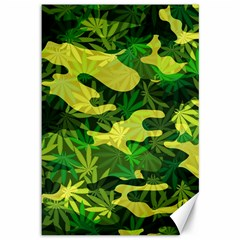 Marijuana Camouflage Cannabis Drug Canvas 12  X 18