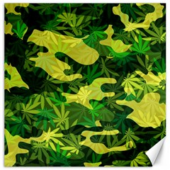 Marijuana Camouflage Cannabis Drug Canvas 20  X 20