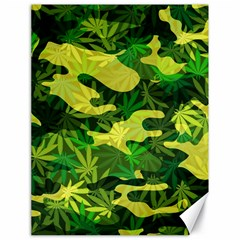 Marijuana Camouflage Cannabis Drug Canvas 18  x 24
